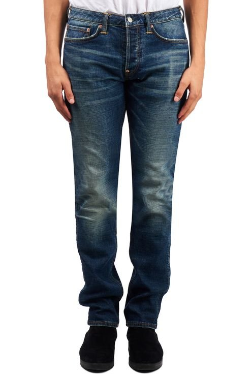 Jeans Printed Seagull Blue
