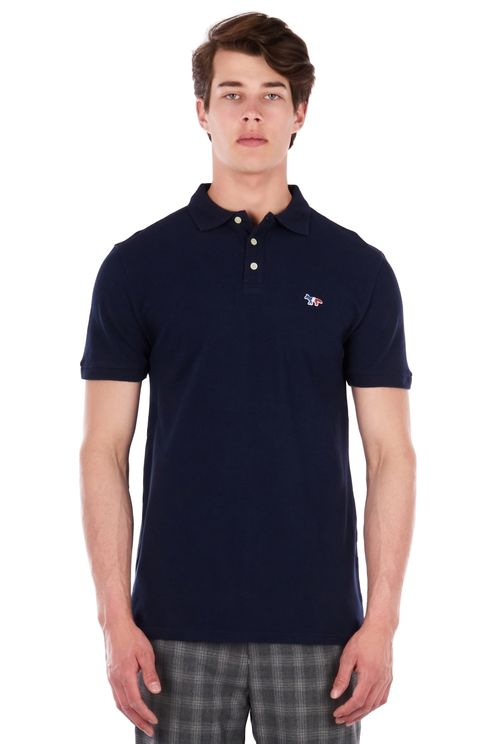 Polo tricocolor fox patch navy