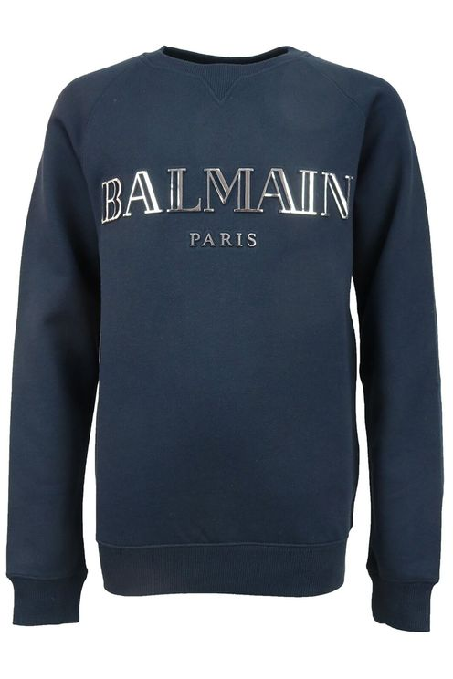 Sweater Blauw met zilveren print