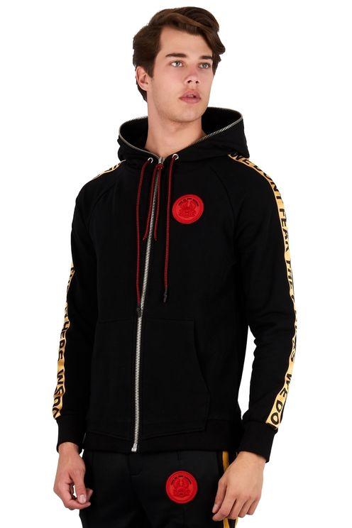 Satin hoodie Black