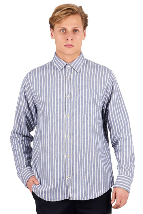 Levon 5166 Shirt Navy Stripe