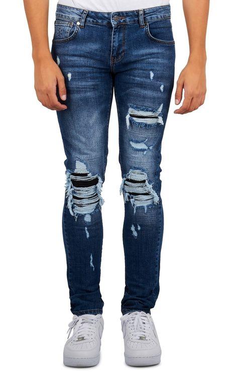Biker Jeans Blue