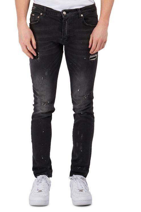 Grey Distressed Skinny Jeans