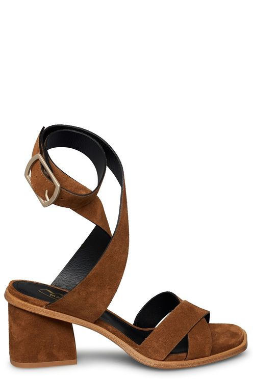 Suede crossed sandal