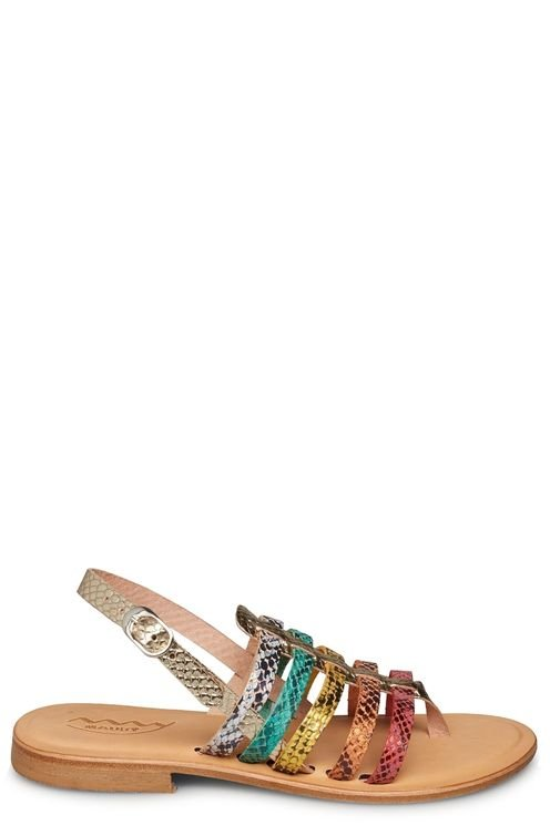 Multi colour flat sandal