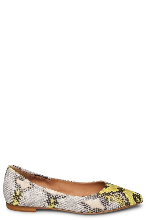 Ballerine python printed leather