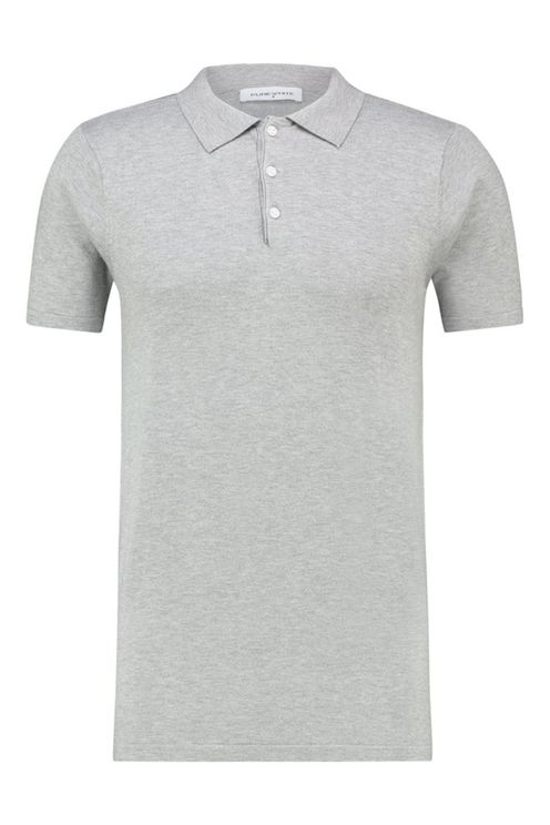 Essential Knitted Polo Grey