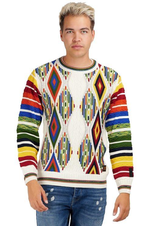 Pullover multicolour ruit
