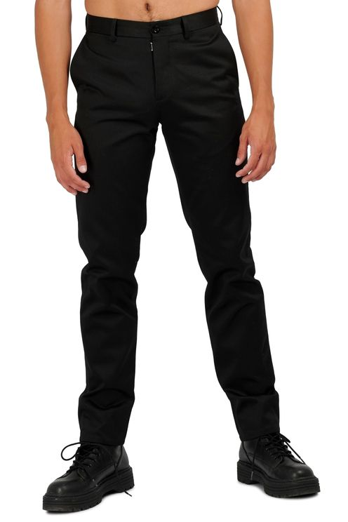 Trousers Black Cotton Satin