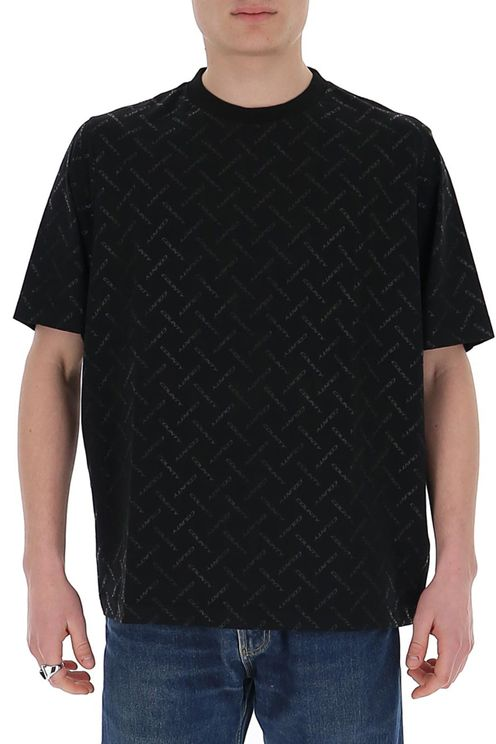 Men's Black Cotton T-shirt