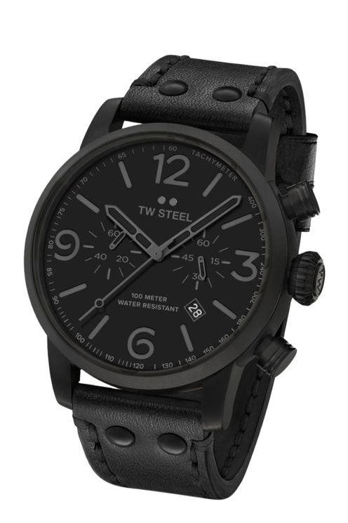 MS114 Maverick All Black chronograaf horloge 48mm