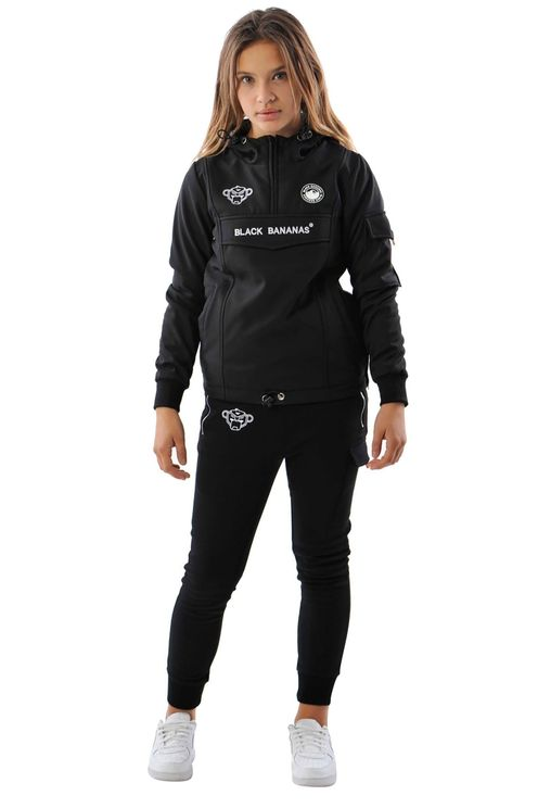 Jr Fc Anorak Fleece Jacket Black