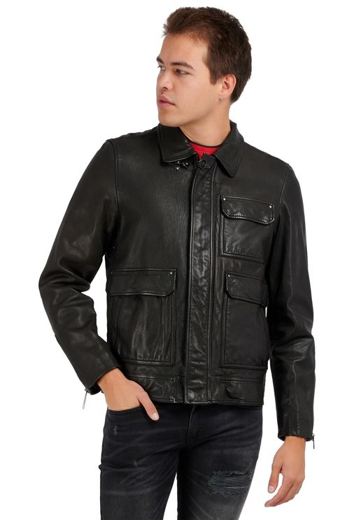 L-Luc Leather Jacket Black