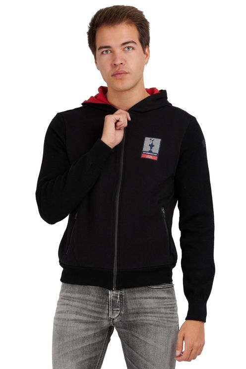 Gore Hooded Full Zip Logo Black