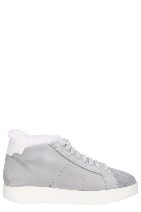 High-top Sneakers Nubuck Fur Upper Grey Natasha