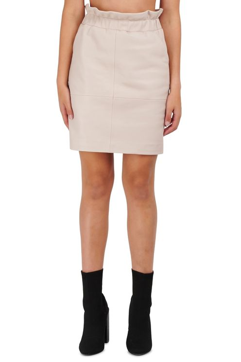 Adyn leather skirt ivory