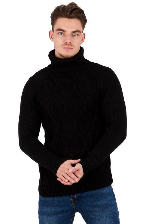 Knit Turtleneck Pullover Dimon Black