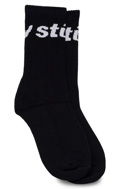 Jacquard logo socks