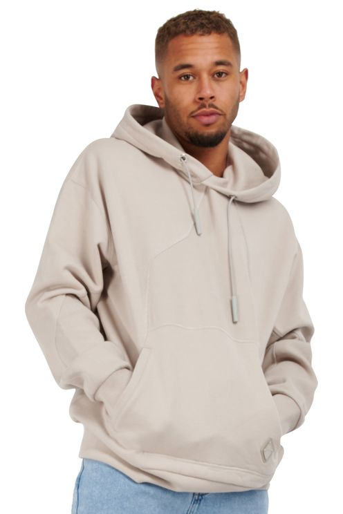 Contour line hoodie beige