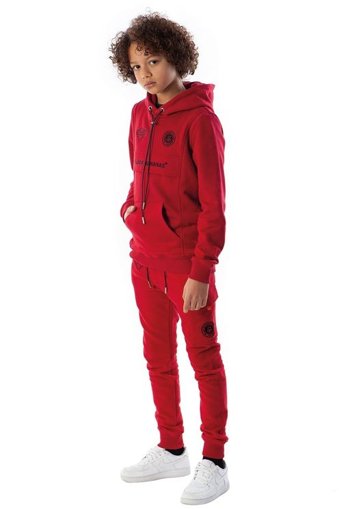 Jr Fleece Jogger Red