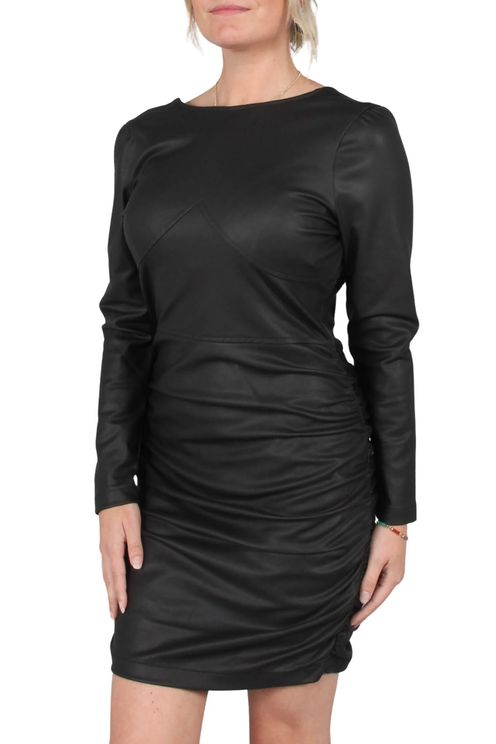 Open Back Vegan Leather Dress