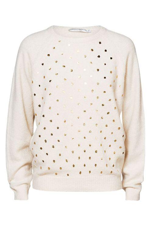 Dot sweater cosy , ivory