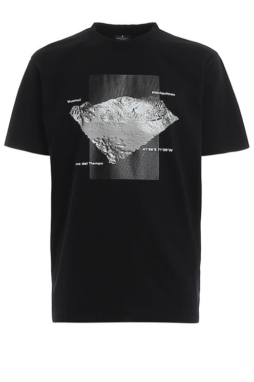 T-shirt Stampa Mountains 3d Nera