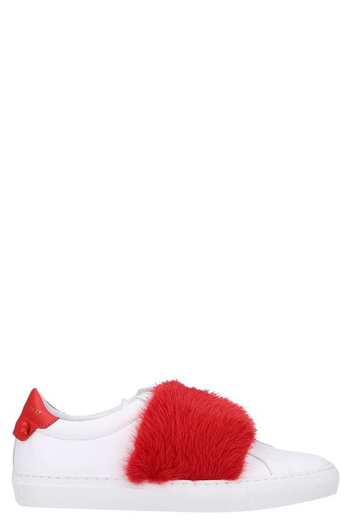 Women Low-Top Sneakers URBAN STREET Calfskin Red White - Sledge