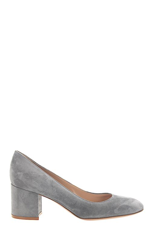 Women Pumps Calfskin Suede Grey - Lana