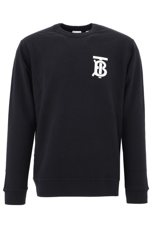 Men's Black Cotton Sweatshirt