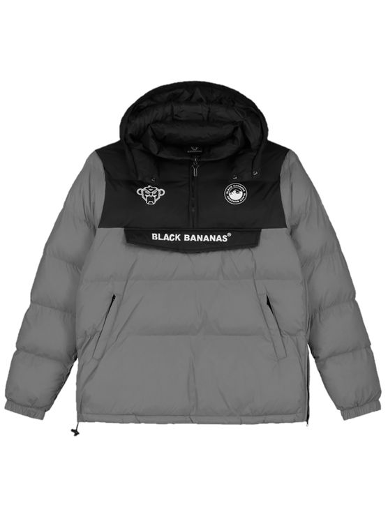 Black Bananas Anorak Block Jacket Grey