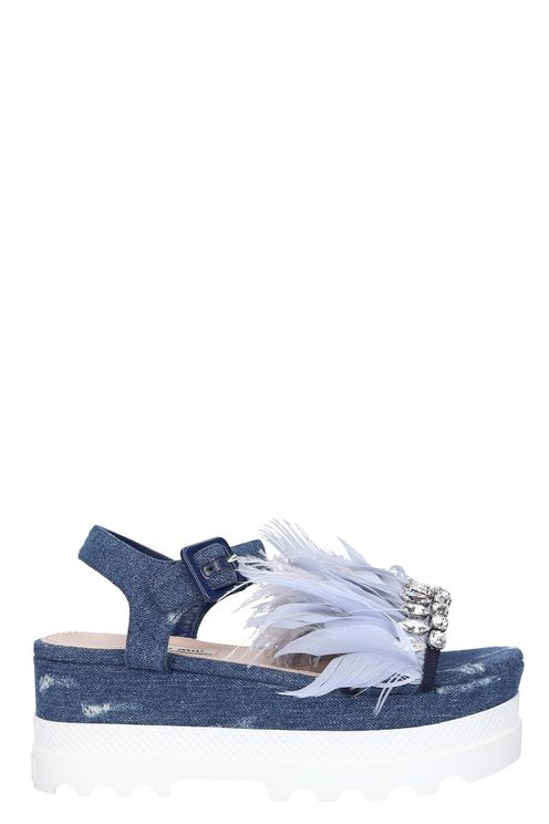 Women Sandals Denim - Aurora