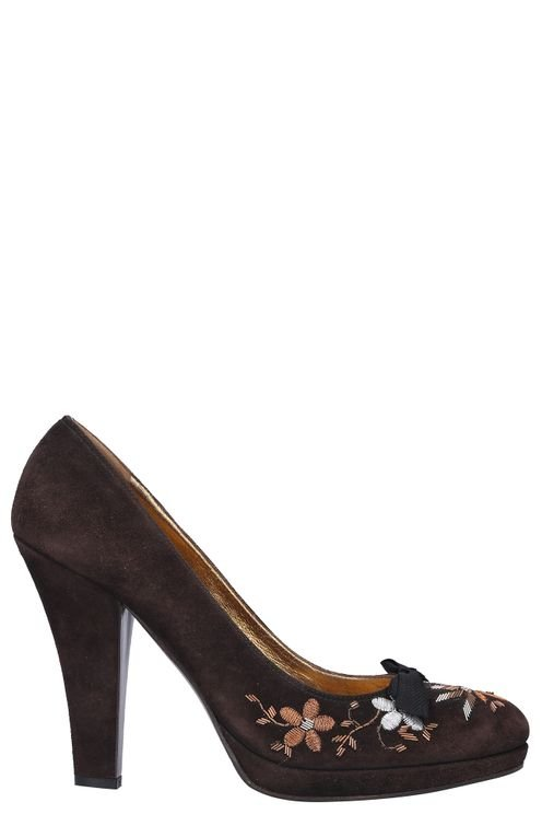 Women Heeled Pumps Suede - TAMPA