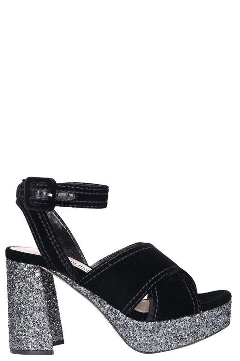 Women Platform Sandals Velvet - Garibaldi