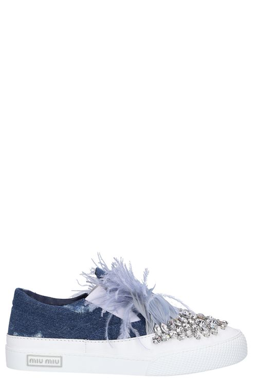 Women Low-Top Sneakers Denim - Amanpulo