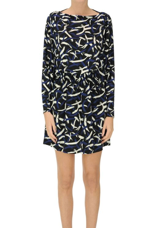 Printed Viscose Jersey Dress