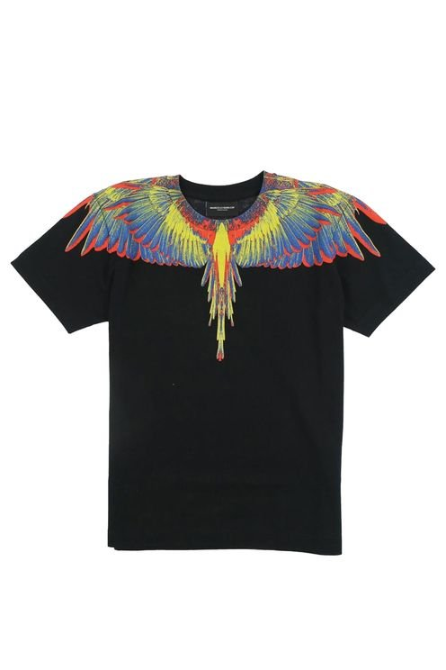 T-shirt W,multicolor Black