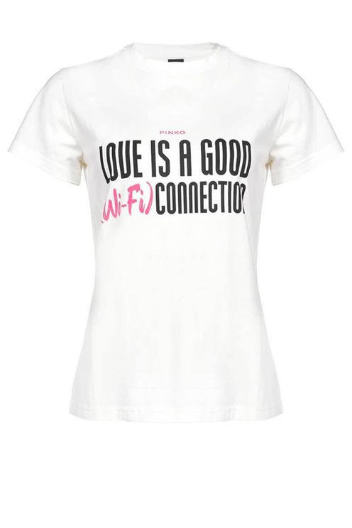 Pinko neutrale white t-shirt with lettering