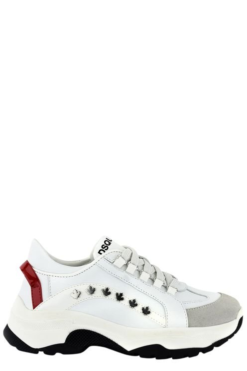 551 Bumpy Sneakers Lace Up White/gr