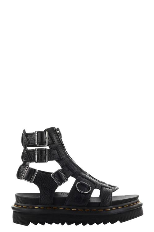 Olson Black Leather Sandal Black