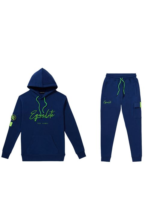 Signature tracksuit navy & green