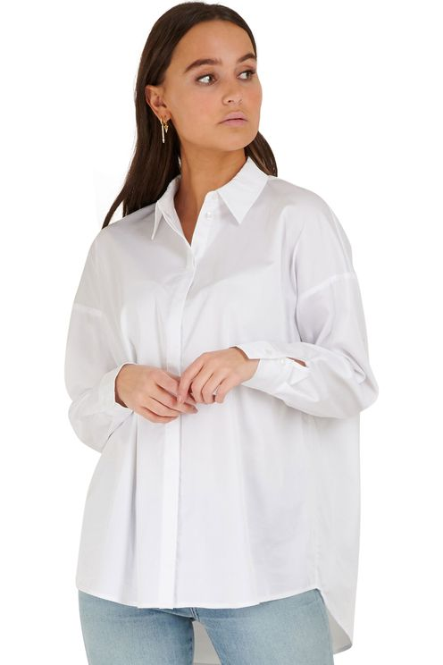 witte oversized blouse