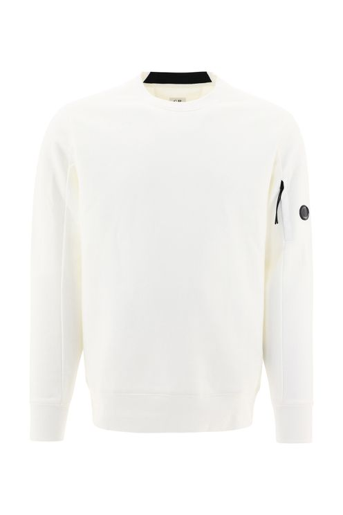 C.p. Company Men's White Cotton Sweatshirt