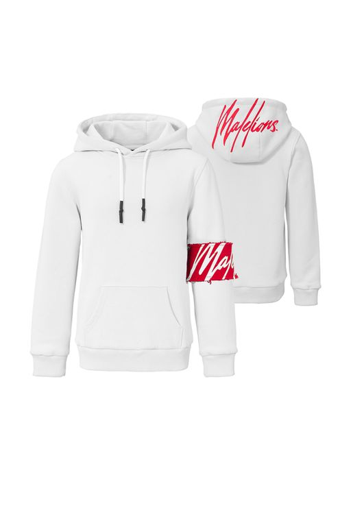 Junior Captain Hoodie - White/Red