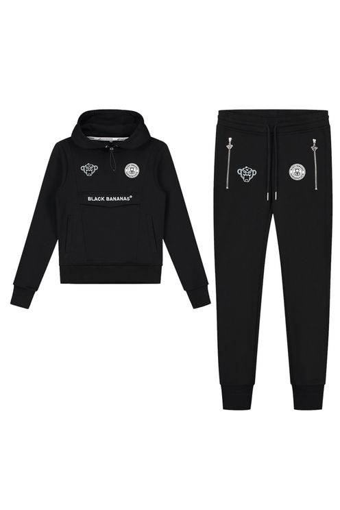 Jr Girls Anorak Tracksuit Black