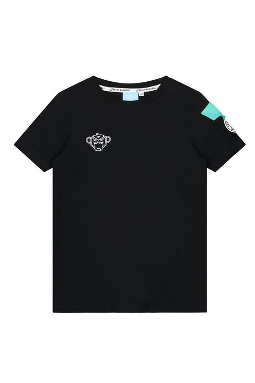 Jr Rank Tee Black/Aqua