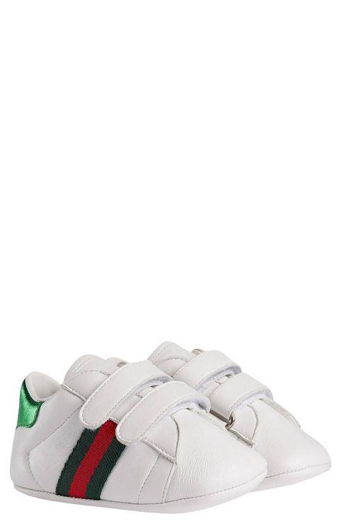 Sneakers Culla In Pelle Bianca Con Dettaglio Web