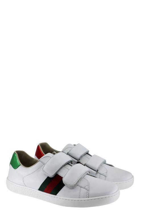 Sneaker Bianca In Pelle