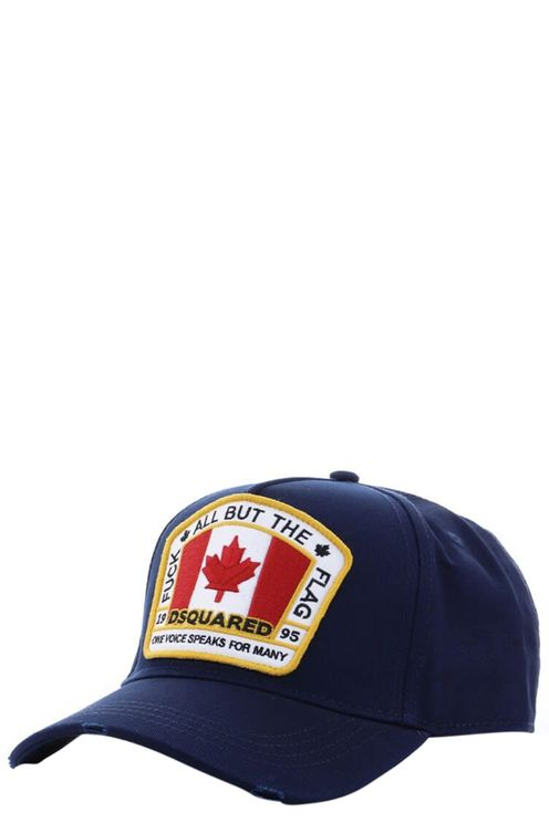 Navy Patch Baseball Cap Blue