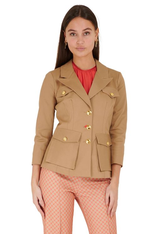 three-quarter sleeve blazer